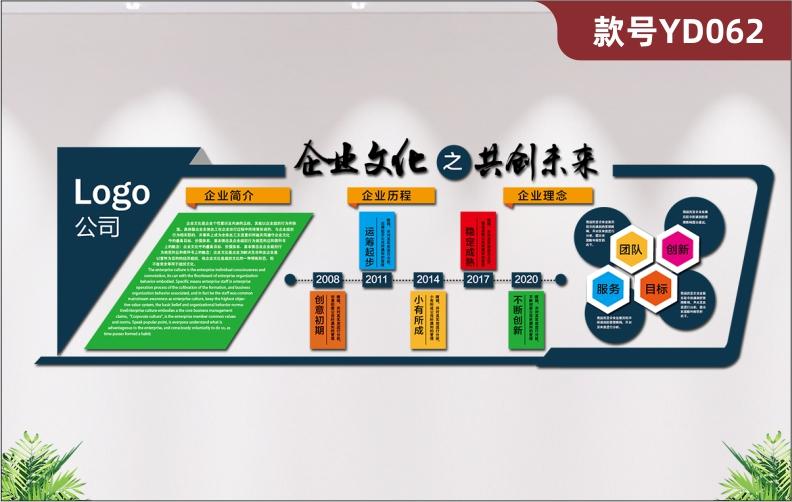 定制3D立体企业文化墙公司简介发展历程经营理念文化展板形象墙贴