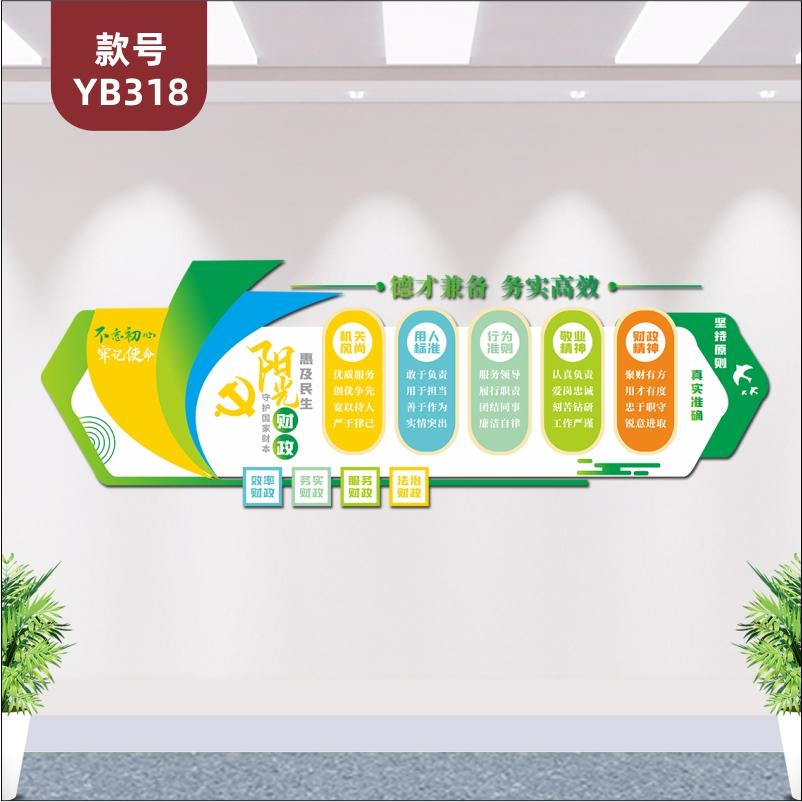 定制党建文化墙工商税务财政局机关单位用人行为标准原则展板3D立体墙贴