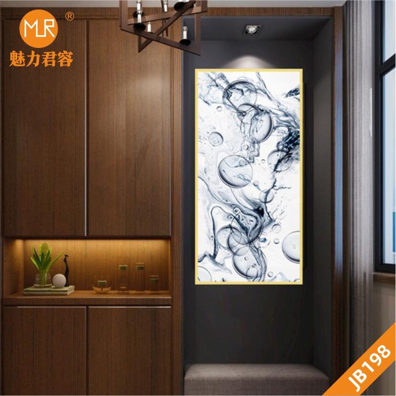 现代简约轻奢客厅墙面装饰画北欧背景墙挂画抽象几何线条玄关挂画