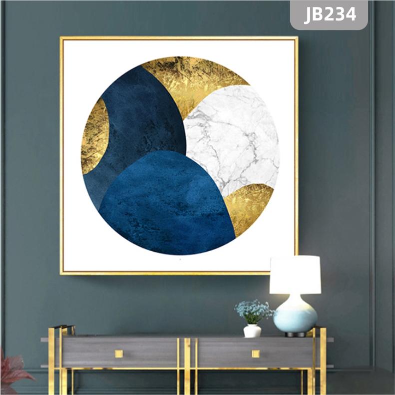 新中式玄关彩色山脉装饰画客厅沙发背景墙上山峰壁画办公室挂画单幅