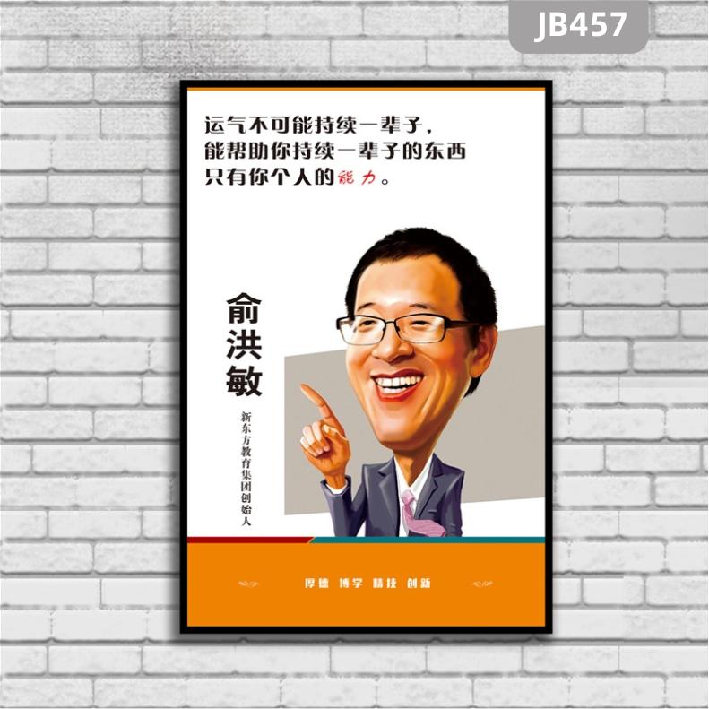 办公室学校励志名人名言标语俞洪敏会议室装饰壁画海报画像定制挂画