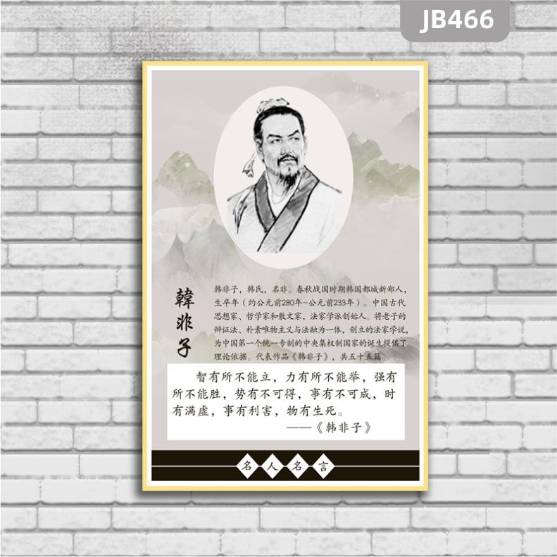 古代名人海报名人海报名言标语学校教室挂图装饰展板法家韩非子画像