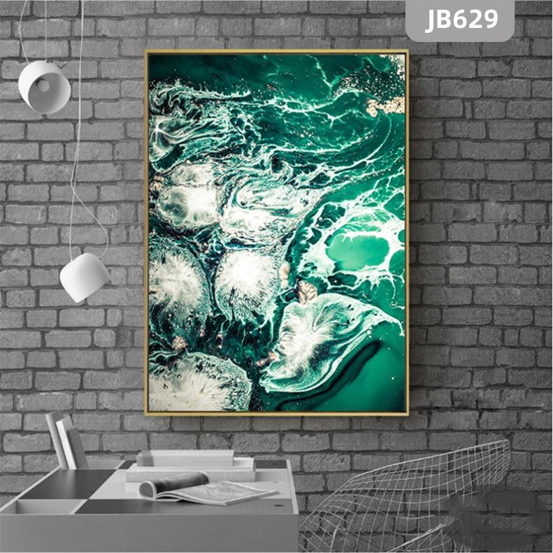北欧风海洋浪花玄关装饰画走廊竖版挂画北欧抽象轻奢海景风景客厅挂画