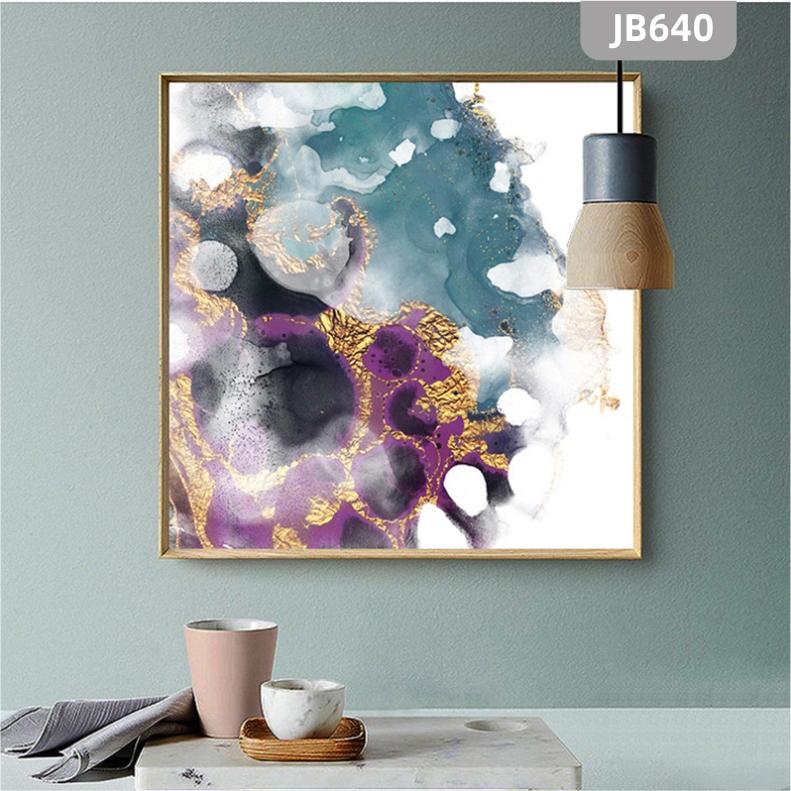手绘新中式抽象水墨色彩艺术挂画简约大气客厅沙发背景墙装饰挂画
