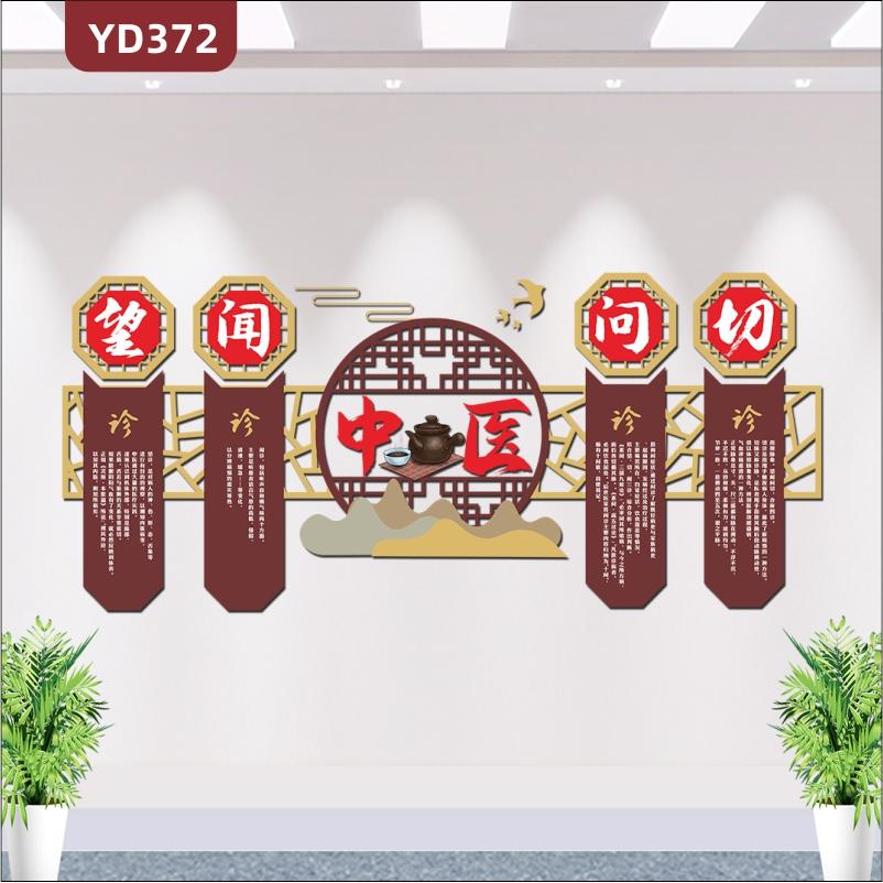 古典中式传统医学中医院中医科中医文化墙中医馆门诊背景墙3D立体装饰