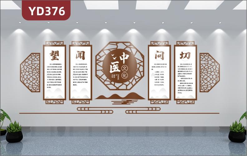 古典中国风中医馆文化墙设计养生馆医院背景墙墙面装饰3D立体亚克力墙贴