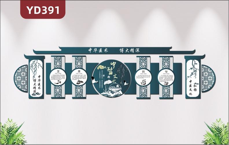 中华医术博大精深古典文化墙弘扬中医文化养生中药医院文化墙3d立体展板