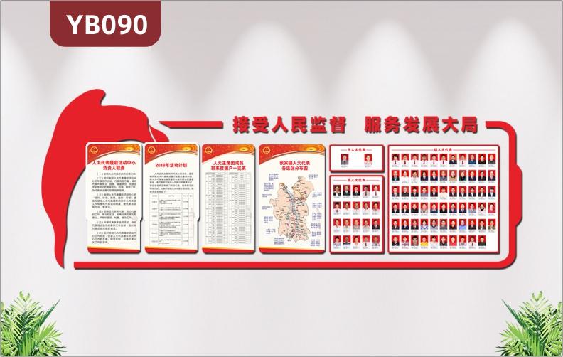 3d立体政府机关党建文化墙市乡镇人大代表分布图照片风采墙办公室装饰贴