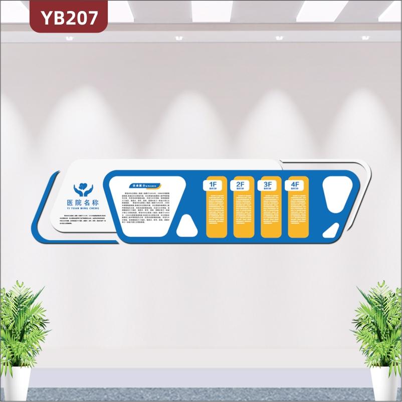诊所医院文化墙设计前台护士站药店背景墙装饰3d亚克力立体墙贴纸