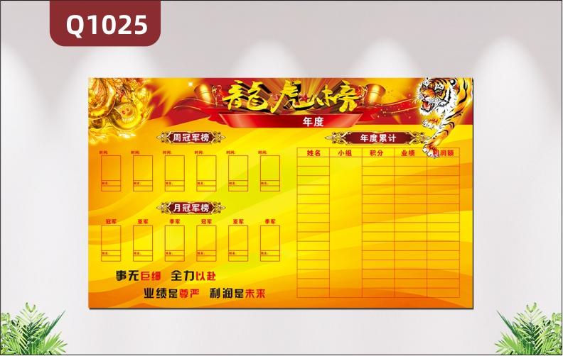 定制企业龙虎榜周月冠军榜精英榜PK榜可擦写吸磁软白板荣誉墙贴