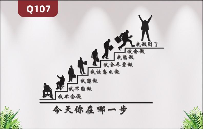 定制企业文化墙企业通用优质印刷个性励志主题今天你在哪一步展示墙贴