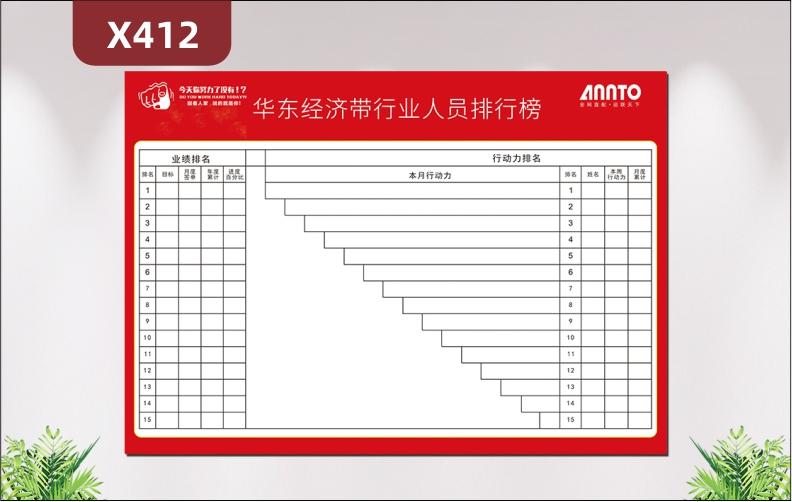 定制企业排行傍文化展板企业名称企业LOGO业绩排名行动力排名展示墙贴