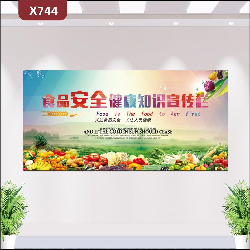 定制食品安全健康知识宣传栏文化展板关注食品安全关注人民健康展示墙贴