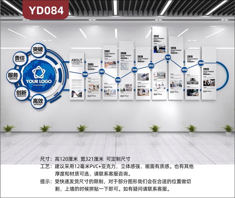 3D立体企业文化墙公司发展历程经营理念办公室背景墙形象布置装饰
