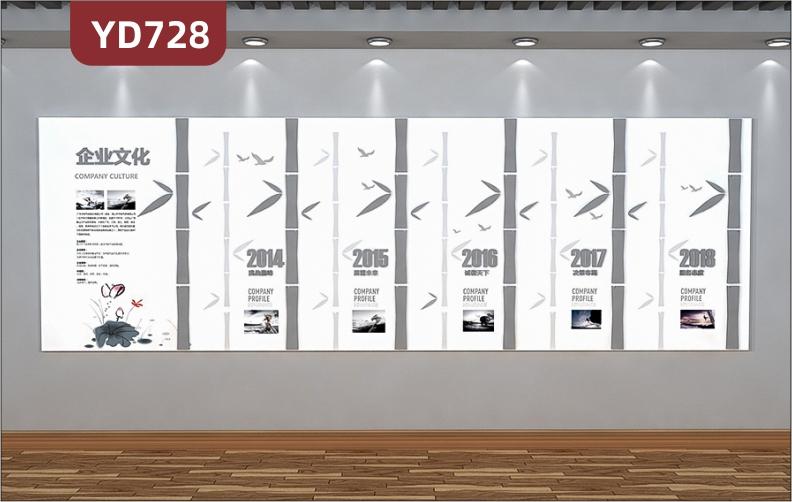 定制创意设计企业文化墙走廊组合挂画装饰墙前台背景墙发展历程展示墙