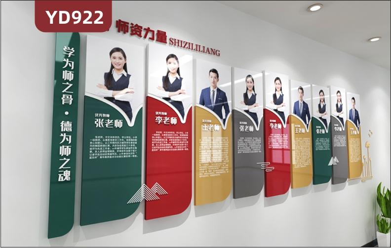 学校文化墙优秀教师风采照片墙走廊立体组合挂画装饰墙办公室背景墙