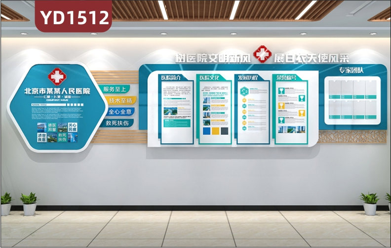 人民医院文化墙科室简介展示墙中医文化宣传墙专家团队荣誉照片墙