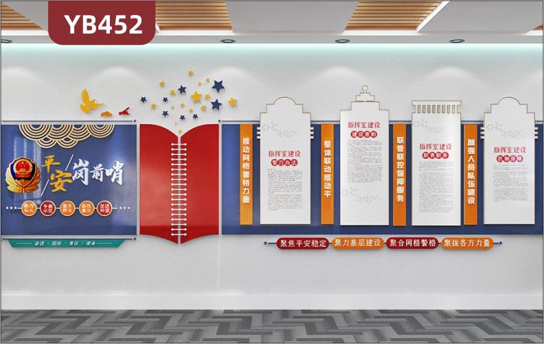 平安岗前哨警营文化墙公安局派出所大厅指挥室建设办法组合装饰挂画